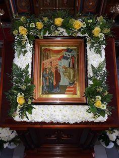 Casket Flowers, Altar Flowers, Church Flowers, Altar Decorations, Flower Decorations, Funeral Sprays, Church Icon, Orthodox Easter, Icon Design