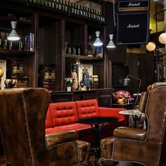 The coziest Bistro in the neighborhood ☕️ Brown's Liquor Cabinet, The Neighbourhood, Cozy, In This Moment, Storage, Brown, Furniture, Home Decor, House Bar