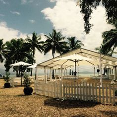 Picket Fence, marquee and market umbrella for a perfect outside reception at Rex Smeal Park *.*