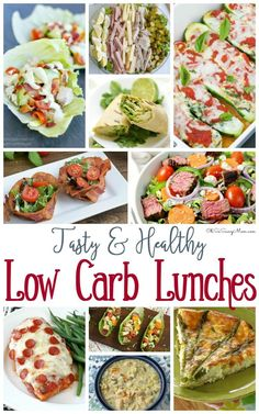If you're looking for healthy recipe inspiration, make sure you check these out!   20 Amazingly Tasty Low Carb Lunches Recipes!