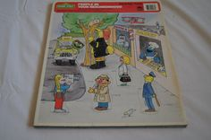 VIntage 1988 - Sesame Street Golden 9 piece puzzle - People in your neighborhood by TheMercerStreetHouse on Etsy