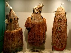 Asmat body masks & shield from Papua, Indonesia, at New Orleans ...