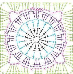 crochet motif pattern #crochetmotif #crochetsquaremotif