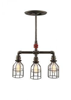 Dekoratif lamba Endustriyel Üçlü Sarkıt