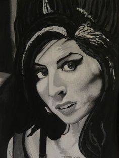 Amy Winehouse original watercolour painting signed by Artist