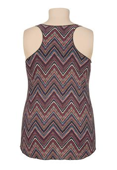 Multi color chevron racerback plus size tank - maurices.com