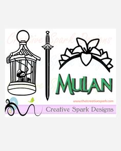 Disney Mulan Themed Silhouette SVG Image Set Digital Download for Die Cutting Machine, vinyl, iron-on, decal, cards, scrapbook, party, decor by CreativeSparkDesigns on Etsy
