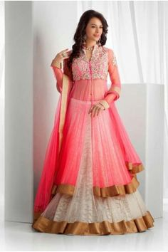 Latest Arrival Designer Pink and White Lehenga Choli