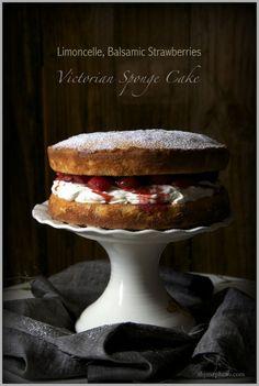 Limoncello Strawberry Balsamic Victorian Teacake
