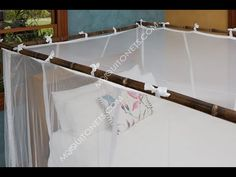 Mosquito Net Frame Instructions for Bamboo or Wood Bed Net Canopy, Net Box, Muslin Curtains, Mosquito Net Bed, 4 Poster Beds, Bamboo Poles, Glass Barn Doors, California King Bedding, Queen Size Bedding
