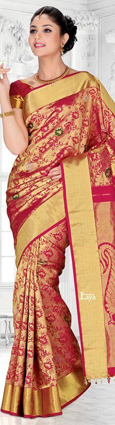 SOUTH India Fashions.✿*❋. Pakistan Fashion, India Fashion, Ethnic Fashion, Fashion Wear, Indian Dresses, Indian Outfits, Sexy Gown, Indian Silk Sarees, Elegant Saree