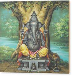 Ganesh Chaturthi marks the Birth of Lord Ganesha which falls on the Hindu month Bhadra. It is also considered as the day when Lord Ganesha comes to earth to give his blessings to the devotees. Pintura Ganesha, Arte Ganesha, Shri Ganesh, Jai Hanuman, Ganesh Idol, Ganesha Pictures, Ganesh Images, Krishna Images, Om Gam Ganapataye Namaha