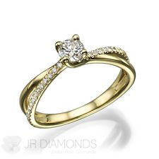 1.14 Ct D/SI2 Solitaire Round Cut Diamond Engagement Ring 14k Yellow Gold