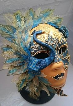 Peacock Pastillage Mask - Salon Culinaire Best in Class - Cake by Cakes By Heather Jane