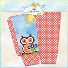 Spring Owls 1d - Printable Popcorn Box (CU) : Digi Web Studio, Clip Art, Printable Crafts & Digital Scrapbooking!