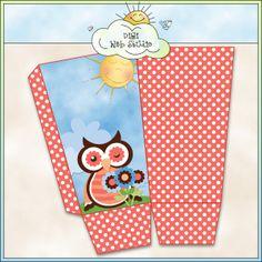 Spring Owls 1d - Printable Popcorn Box (CU) : Digi Web Studio, Clip Art, Printable Crafts & Digital Scrapbooking!