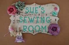 Shabby Chic Craft Room Sign plaque Sewing Room Sign Personalised Any Name. Custom made choice of designs available. by FairylandDecor on Etsy Shabby Chic Wedding Decor, Shabby Chic Birthday, Shabby Chic Cards, Shabby Chic Frames, Shabby Chic Baby Shower, Shabby Chic Bedroom Furniture, Shabby Chic Living Room, Craft Room Signs, Shabby Chic Christmas
