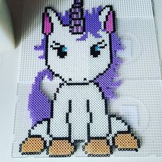 Unicorn hama beads by mrs.soellingvraa - Pattern: https://de.pinterest.com/pin/374291419013031059/