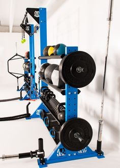 Space efficient quality fitness storage rack
