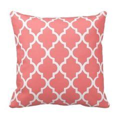 Coral Throw Pillow #decor #pillow