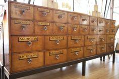 1870's pharmacy drawers
