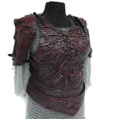 Female Infested Larp Armour pictured with matching pauldrons. Larp Armor, Pauldron, Fantasy Armor, Armour, Female, Outfits, Style, Fashion, Swag