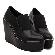 Women's Shoes Platform Wedge Heel Leather Pumps Shoes More Colors available – USD $ 39.99