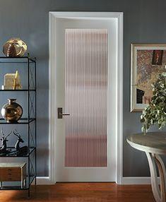 Prehung Interior French Doors, Frosted Glass Interior Doors, Frosted Glass Door, Glass French Doors, Kitchen Glass Doors, Door Design, House Design, Glass Design, Reeded Glass