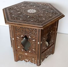 Mother of pearl Moroccan, Syrian and Levantine Furniture - Syrian mother of pearl side table.