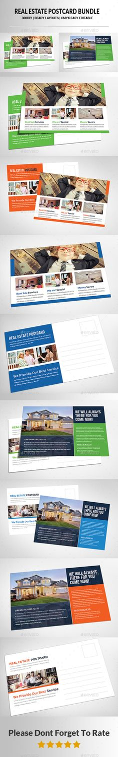 Real Estate Postcards Bundle - Corporate Flyers