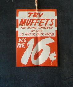 Vintage Grocery Store poster