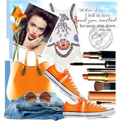 A fashion look from July 2016 featuring River Island tops, Converse sneakers and Aevha London tote bags. Browse and shop related looks.