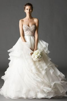 Watters Brides Kian Corset + Priya skirt. Totally down with the two piece trend.