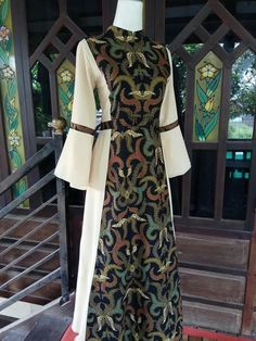 Call, SMS or WhatsApp if you want this style, needs a skilled tailor to hire or you want to expand more on your fashion business. Batik Fashion, Abaya Fashion, Muslim Fashion, Model Dress Batik, Batik Dress, African Dresses For Women, African Fashion Dresses, Fashion Outfits, Batik Muslim