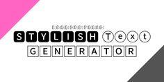 Stylish Text Generator, Logos, Free, Logo