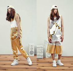 Kye 2014 Spring Summer Mens Lookbook - Kathleen Kye Band-Aid Motif Metallic Gold Urban Streetwear: Designer Denim Jeans Fashion: Season Collections, Runways, Lookbooks and Linesheets