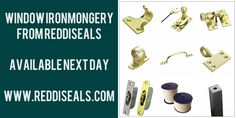Window hardware from Reddiseals order before 4.30pm for next day delivery. Choose from the largest range of ironmongery finishes in the industry.