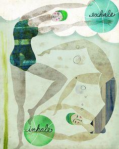 2 bathers breathing, Andrea Daquino