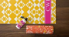 Tribal Monogrammed Yoga Mat - what a fun gift for a peep or yourself! Hold your poses in style.