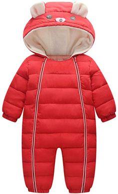 Sameno Kids Baby Floral Winter Snowsuit 1-5 T Faux Fur Jacket Hoodie Cute Vest Waistcoat Warm Cotton Snow Coat Boy Girl