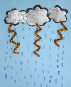 Puffy Paint Thunderstorm Craft Puffy Paint Thunderstorm Craft<br> Kids thunderstorm craft activity to go with picture books about storms. Perfect for preschoolers and can be adapted for toddlers. Spring Crafts For Kids, Summer Crafts, Diy Crafts For Kids, Craft Kids, Weather Art, Weather Crafts, Puffy Paint, Toddler Art, Toddler Crafts