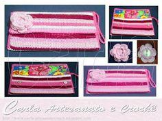 Carteira de mão em crochet