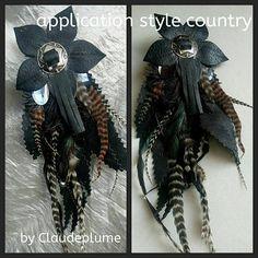 Retrouvez cet article dans ma boutique Etsy https://www.etsy.com/fr/listing/543671247/pendentifs-cuir-plumes-style-country