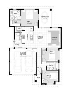 4 Bedroom House Plans & Home Designs - Celebration Homes Duplex Floor Plans, Small House Floor Plans, Cottage Floor Plans, Home Design Floor Plans, Best House Plans, The Plan, How To Plan, Contemporary House Plans, Modern House Plans