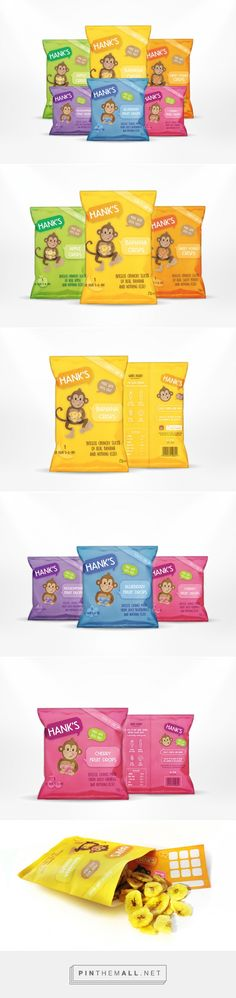 Hank's healthy snacks designed by Lilly Parr. Pin curated by #SFields99 #packaging #design