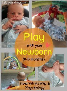 What, how and why to play with your newborn. Really interesting psychology behind newborn play and what's important