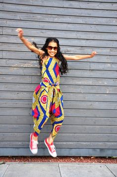 Red Diamond Children's Bianca Harem African Print Jumpsuit. $47.00, via Etsy.