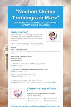 *Neuheit Online Trainings ab März*