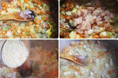 Arroz con pollo y zanahorias