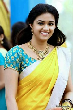 Top 15 Beautiful Pics of Keerthi Suresh in Saree Beautiful Girl Indian, Most Beautiful Indian Actress, Beautiful Saree, Beautiful Women, Simply Beautiful, Beautiful Bollywood Actress, Beautiful Actresses, Stylish Girl Images, Thing 1